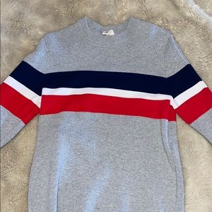 H&M Red, White, and Blue Patriotic Sweater.
